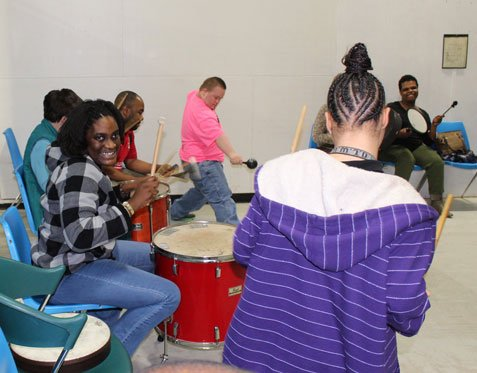 2018 Drum Therapy Session - Playing with the Drums
