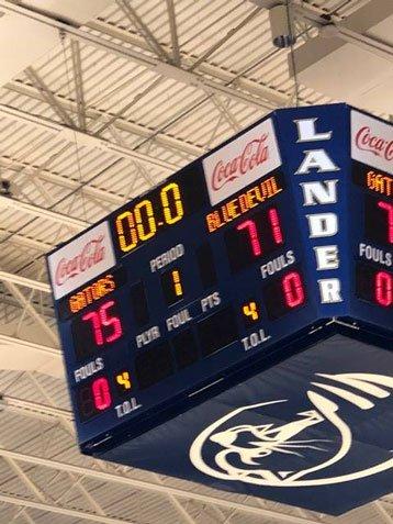 2018 Basketball Game - Scoreboard