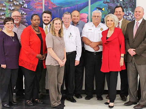Local & State Officials Visit Burton Center - Taking A Picture