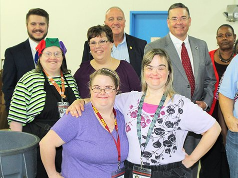 Local & State Officials Visit Burton Center - More Group Pictures