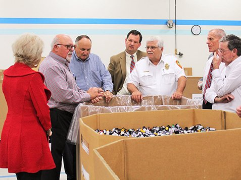 Local & State Officials Visit Burton Center - Tour Time
