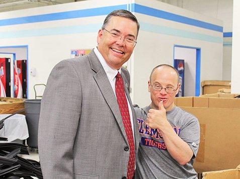 Local & State Officials Visit Burton Center - Happy Smiles