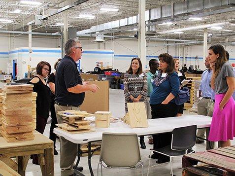 Leadership Greenwood Visits Burton Center - Talking