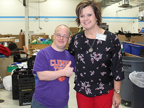 Leadership Greenwood Visits Burton Center - All Thumbs Up