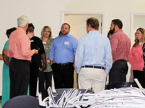 Leadership Greenwood Visits Burton Center - Giving A Tour