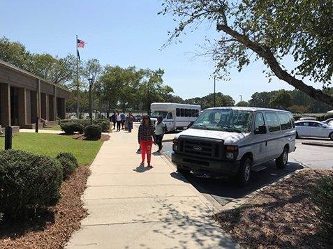 Beaufort County Evacuation - People Arriving