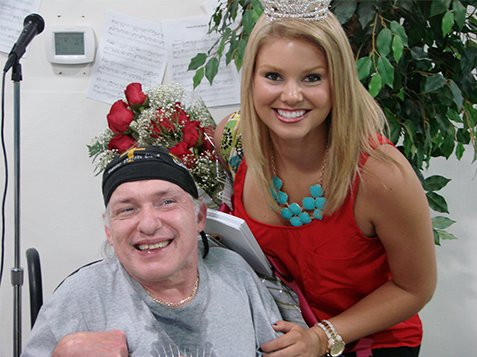 Miss SC Ali Rogers Visit to Burton Center - Ali with Roses