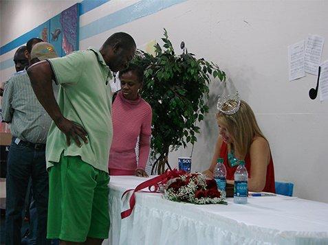 Miss SC Ali Rogers Visit to Burton Center - Signing Autographs