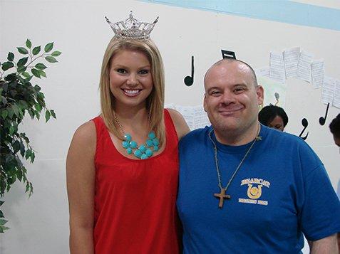 Miss SC Ali Rogers Visit to Burton Center