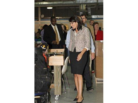Governor Nikki Haley Visits With the Burton Center Foundation