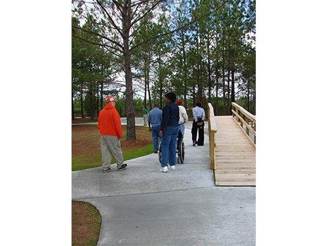 Sensory Park - Members Walking Through the Park